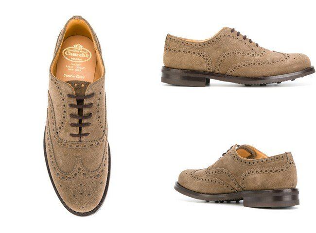 Church's oxford wingtip shoes