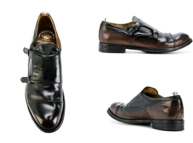 Officine Creative monk strap shoes