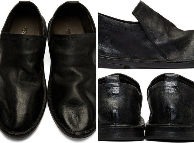 Marsèll Black Tost Loafers