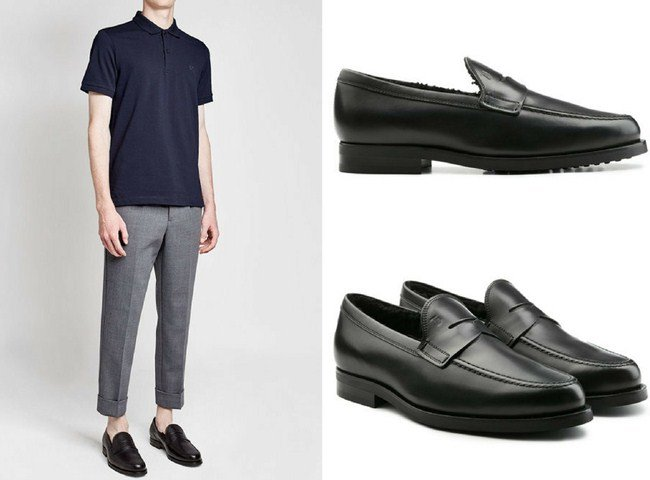 Tod's Leather Loafers with Shearling