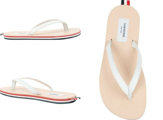 Thom Browne striped sole flip flops