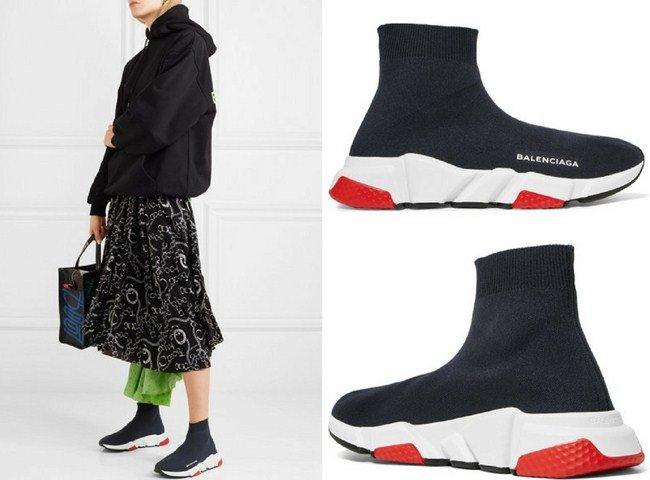 15a64c280d34 Balenciaga Speed logo-printed stretch-knit high-top sneakers