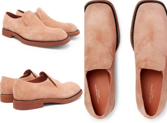 DRIES VAN NOTEN SUEDE LOAFERS
