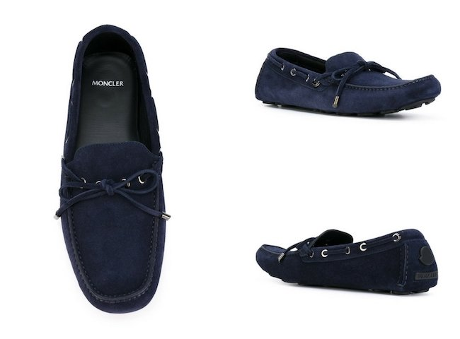 MONCLER eyelet lace-up loafers