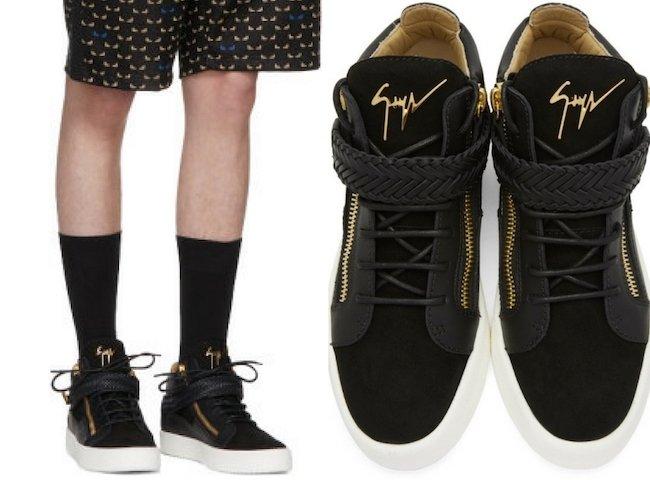 Giuseppe Zanotti Black May London High-Top Sneakers