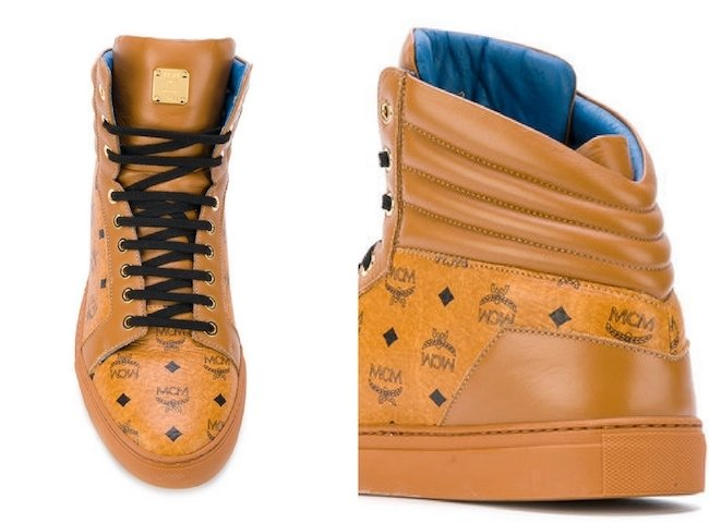 MCM lace up trainers