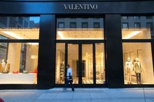 Valentino fashion store in San Francisco, USA.