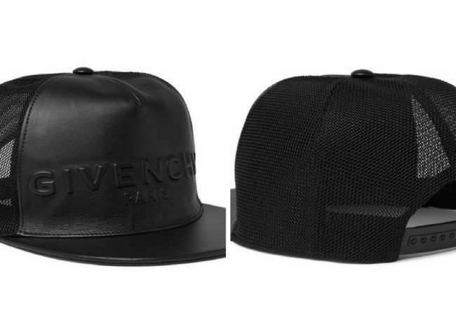 GIVENCHY Leather And Mesh Baseball Cap