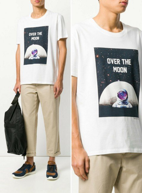 VALENTINO over the moon print T-shirt