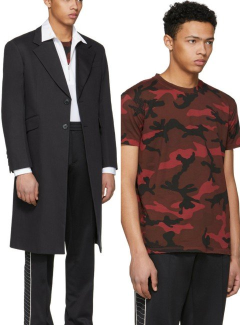 Valentino Red Camouflage T-Shirt