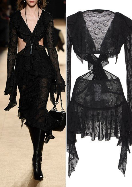 Roberto Cavalli Lace Cut Out Blouse