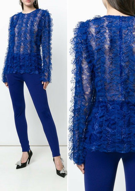 GIVENCHY textured lace top