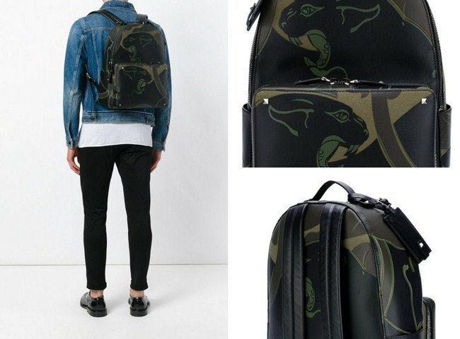 Valentino Garavani Camupanther backpack