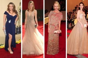 Mariah Carey, Rose Byrne, Kate Bosworth, Anne Hathaway (from left to right) all wearing beautiful Valentino Gowns