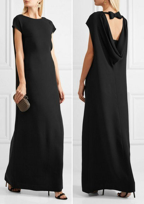 Valentino Open-back draped silk-cady gown