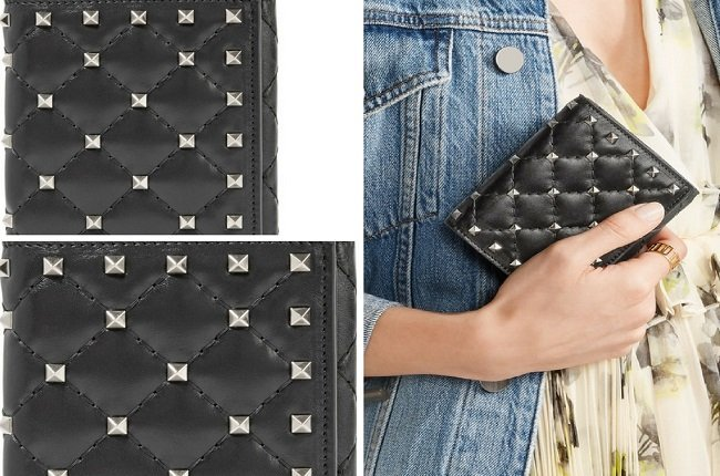 Valentino The Rockstud Spike quilted leather wallet (2)
