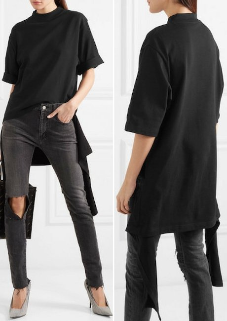 BALENCIAGA Draped Cotton-jersey Top