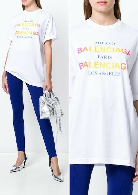 BALENCIAGA Cities Oversized T-shirt