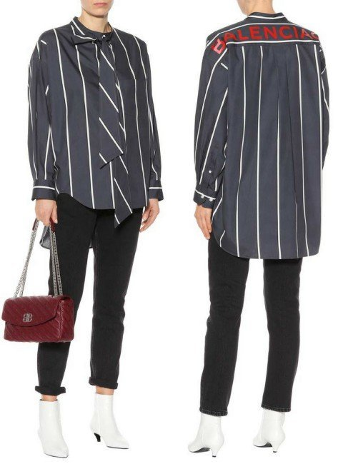 BALENCIAGA Striped cotton shirt