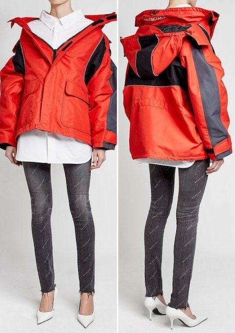 BALENCIAGA Oversized Jacket with Hood