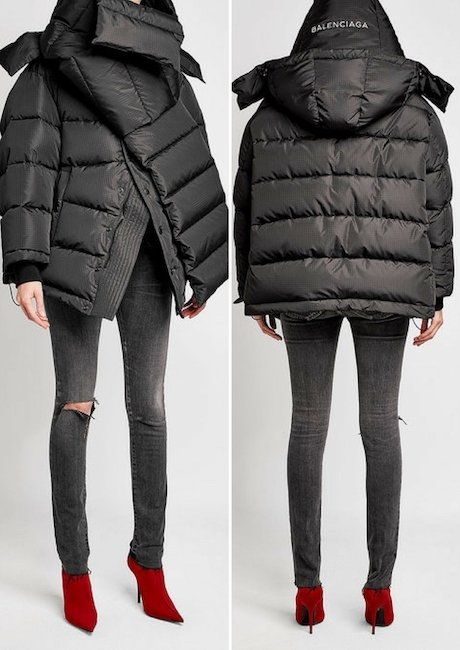 BALENCIAGA Oversized Down Jacket with Hood