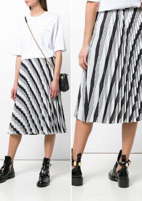 BALENCIAGA Sunray Pleated Skirt