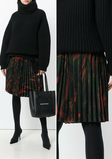 BALENCIAGA Hourglass Pleated Skirt