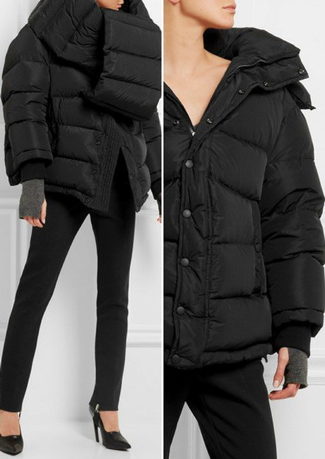 BALENCIAGA Swing Doudoune oversized hooded quilted shell down coat