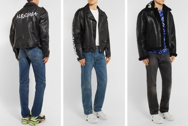 79a7ab1a603e5 4 Must-have Balenciaga Black Leather Jackets for Men in 2018