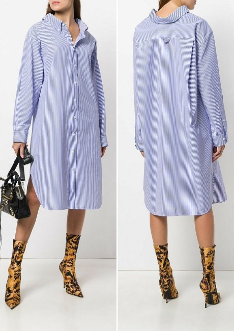 Balenciaga Swing Collar Dress