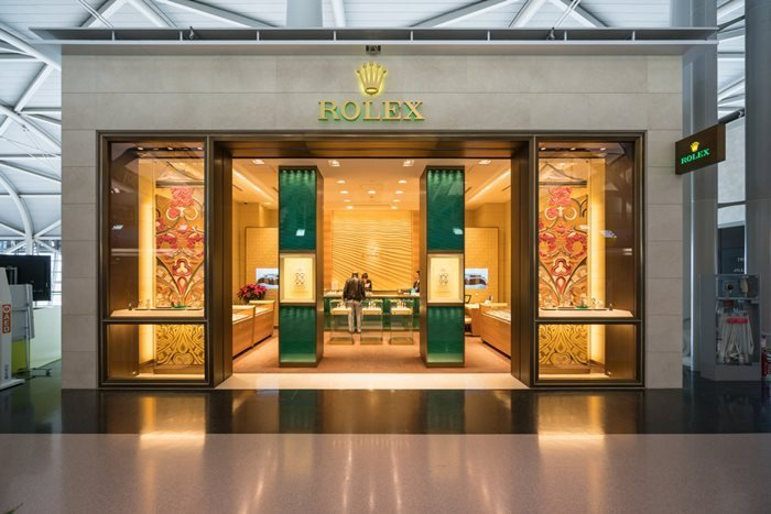 Rolex shop in Duty free zone at Kansai International Airport. Osaka, Japan.