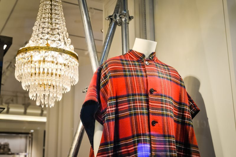 Burberry store in Milan displaying Red Shirt