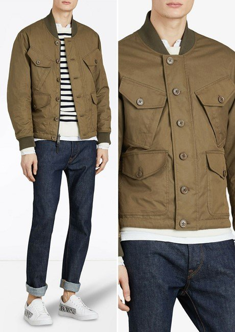 BURBERRY Reversible Quilted Bomber Jacket