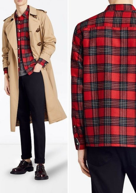 BURBERRY patch pockets tartan shirt