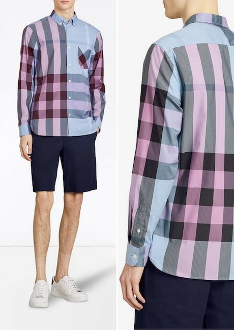 BURBERRY check stretch shirt