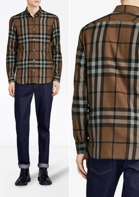 BURBERRY checked flannel shirt