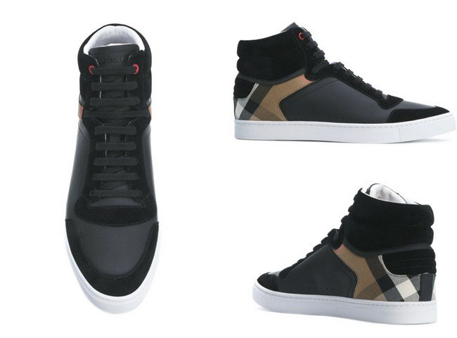 Burberry House Check hi-top sneakers