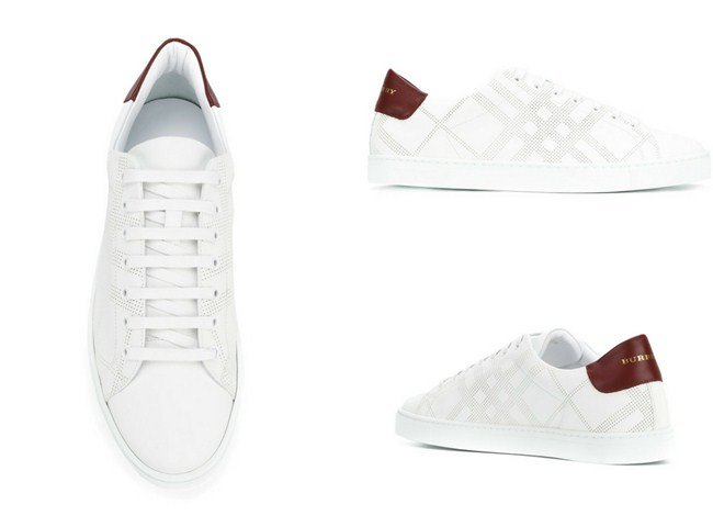 Burberry Perforated Check sneakers