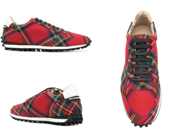 Burberry designer checked sneakers