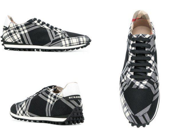 Burberry checkered designer sneakers