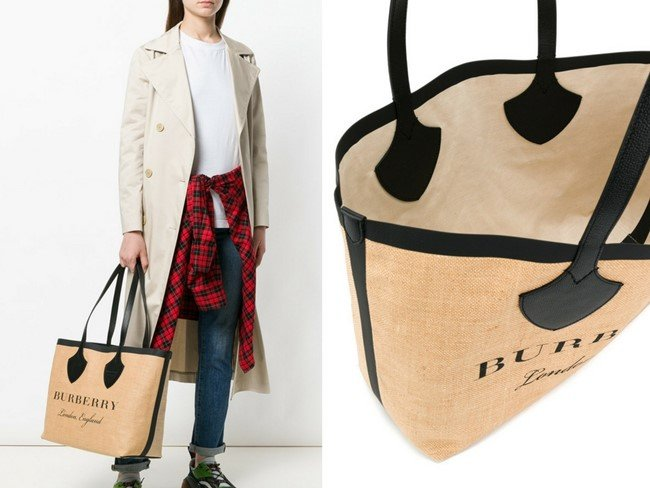BURBERRY carry-all logo tote