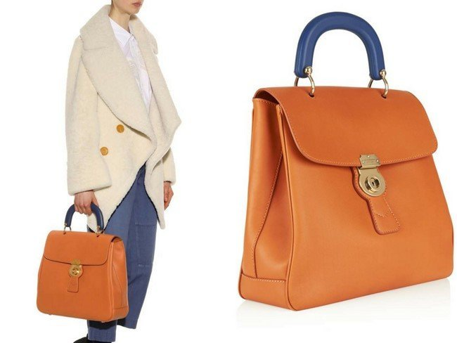 BURBERRY The Trench leather portrait bag