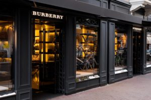 Burberry Storefront in Amsterdam
