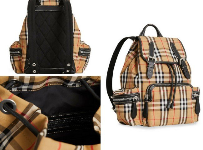 0b3c24d7a8b8 BURBERRY The Medium Rucksack in Vintage Check and Leather