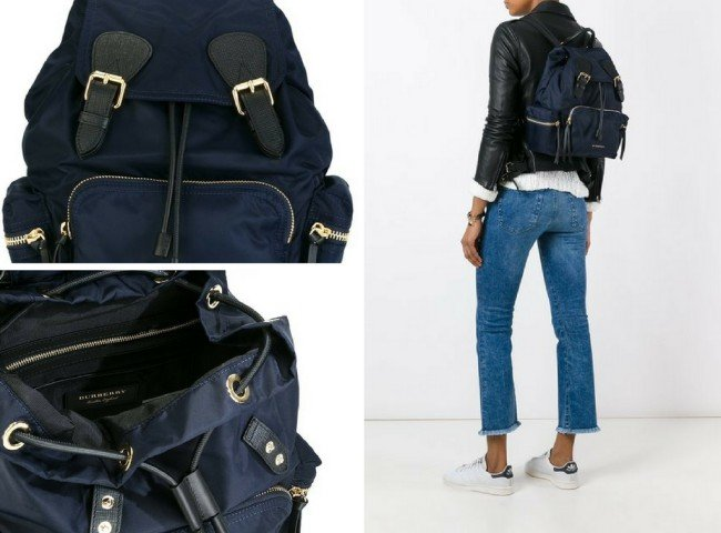 10df679286035 BURBERRY medium Rucksack in technical nylon and leather