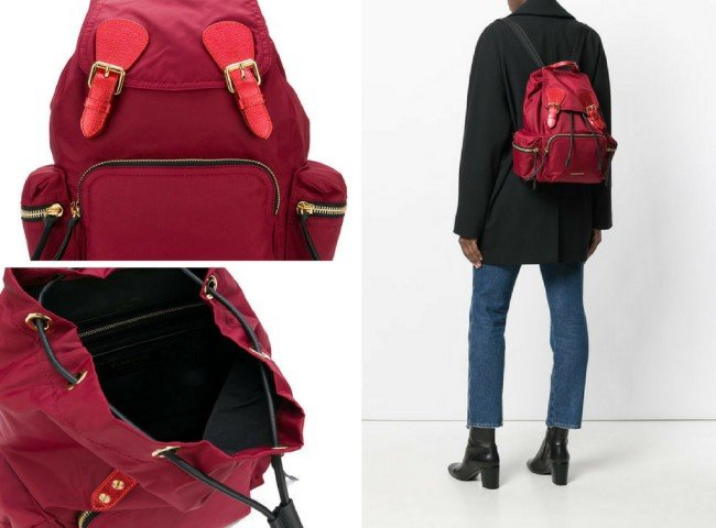 BURBERRY medium Rucksack in technical nylon and leather b15c16c29e9dc