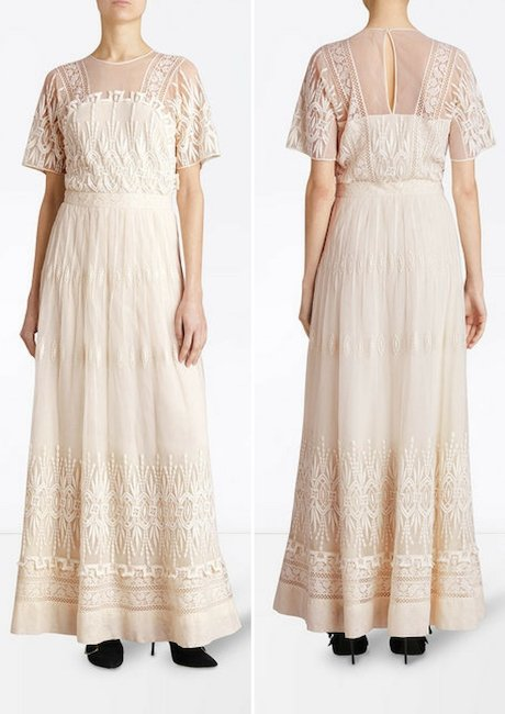 BURBERRY embroidered tulle dress