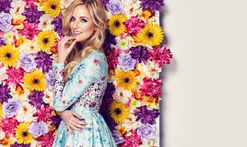 Most Glamorous Designer Floral-print Dresses and Gowns