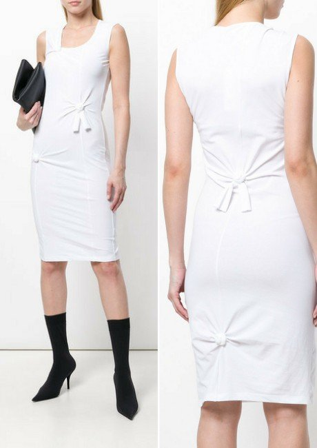 HELMUT LANG fitted knot dress
