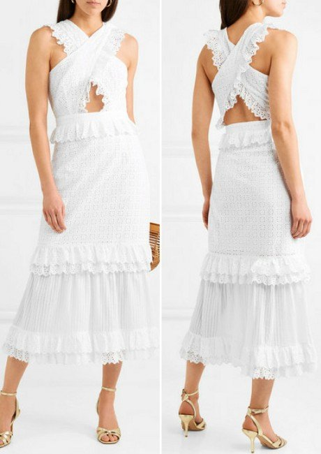 ALICE MCCALL Everything She Wants tiered ruffled broderie anglaise cotton dress